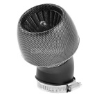 Universal Thread Dia 4.8cm Carbon Fiber Color Apple Shape Motorcycle Air Filter