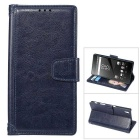 MO.MAT Protective PU Leather + PC Case for Sony Z5 - Blue