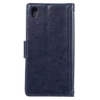 MO.MAT Protective Leather PU + PC Case para Sony Z5 - Azul