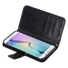 Butterfly Style Leather Case for Samsung Galaxy S6 Edge - Black