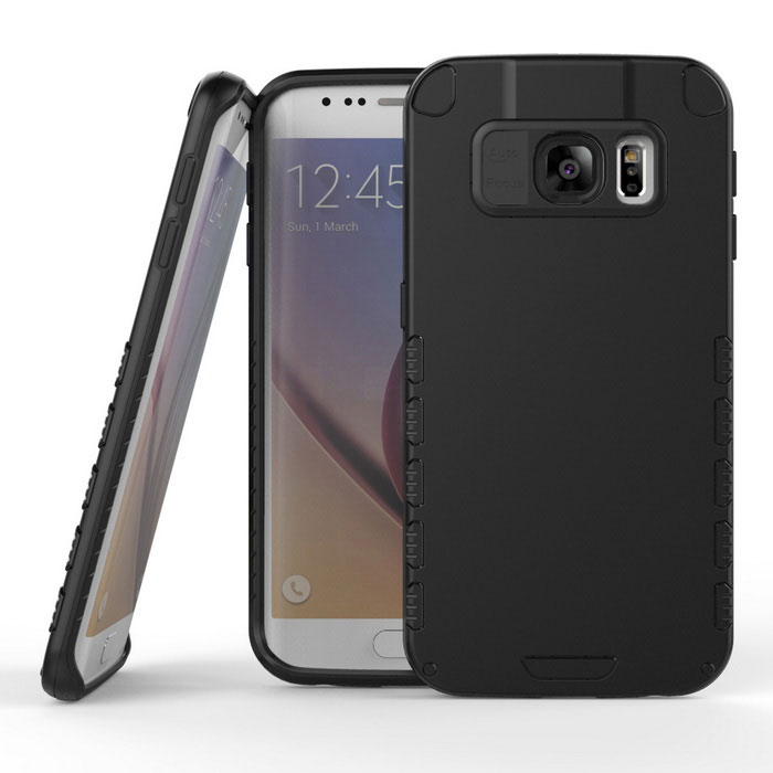 a9e89f4becb MAT Armor Hard Protective Case for Samsung Galaxy S6 Edge - Black - Free  Shipping - DealExtreme