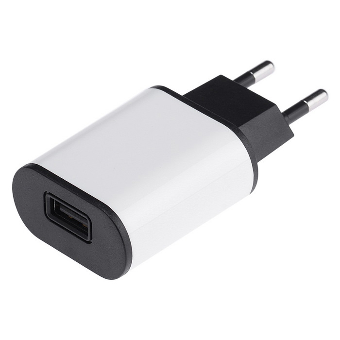 Universal 5V 2A USB Charger for IPAD / Phone - White + Black (EU Plug)AC Chargers<br>Form  ColorWhite + BlackModelNoneMaterialABSQuantity1 DX.PCM.Model.AttributeModel.UnitCompatible ModelsUniversalInput Voltage100-240 DX.PCM.Model.AttributeModel.UnitOutput Current2 DX.PCM.Model.AttributeModel.UnitOutput Voltage5 DX.PCM.Model.AttributeModel.UnitPower AdapterEU PlugPacking List1 x Charger<br>