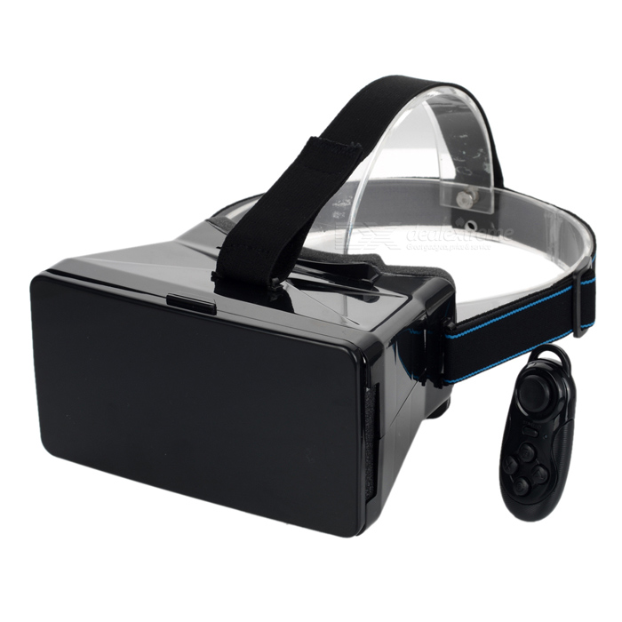 VR 3D Video Glasses w/ Bluetooth Mouse for 3.5~5.6 Phone - Black3D Glasses<br>Form  ColorBlack (with Bluetooth Mouse)MaterialABSQuantity1 DX.PCM.Model.AttributeModel.UnitShade Of ColorBlackTypeOthers,N/ACompatible ModelsSuitable for all 3.5~5.6 inch smart phones (max. under 15.4cm x 8.2cm)Powered ByPower FreeBattery LifeN/A DX.PCM.Model.AttributeModel.UnitPacking List1 x 3D glass1 x Wireless Bluetooth Controller<br>