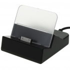 USB Charging Dock for iPhone 3GS/4/iPad - Black (120CM-Cable)