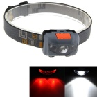 Outdoor 3-Mode LED White + Red Small Headlight