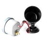 Car 65mm LED Turbo Boost Vacuum Gauge Dial + Pod Holder - Black + Grey