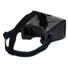 "Head Mount Virtual Reality 3D Video Glasses for 3.5-5.6"" Phone - Black"