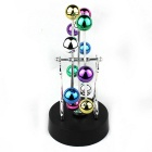 Balls Rotating Ferris Wheel Perpetual Motion Desk Craft - Multicolored