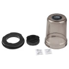 Mildewproof Storage Box Case for Canon EOS EF Lens - Transparent Grey