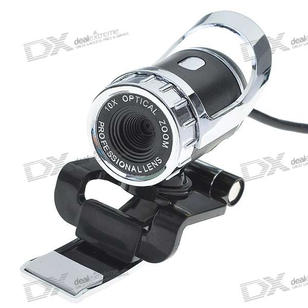 Driveless 1.3MP HD Webcam con micrófono incorporado - Negro