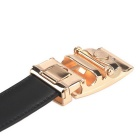 Fanshimite J21 Men's Automatic Buckle Leather Belt - Black (120cm)
