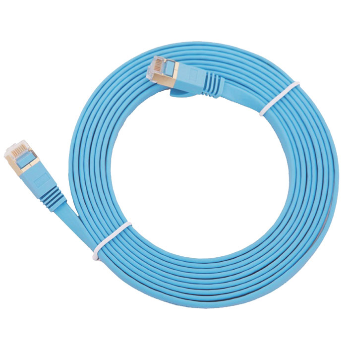 Cat.7 RJ45 10Gbps / 600MHz Network Ethernet Cable - Blue (200cm)