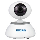 ESCAM QF550 1/4 CMOS 1.0MP Câmera de alarme IP w / 12-IR-LED / Wi-Fi - White (Plug UE)