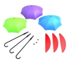 Umbrella Style Hooks Decorative Small Objects - Multicolored (3PCS)