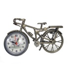 A00229 Creative Classical European Bicycle Style Alarm Clock - Golden Grey