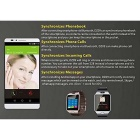 DZ09 Bluetooth Smart Wrist Healthy Watch for Phone - Silver + White