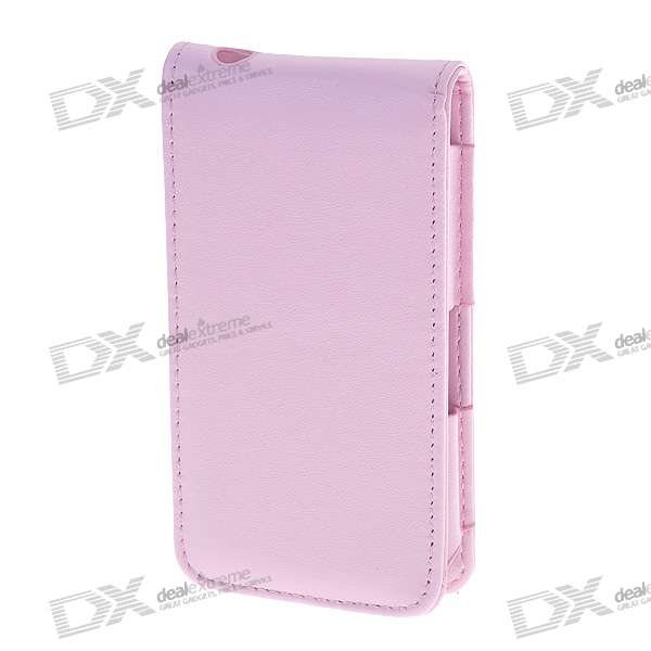 Protective PU Leather Case for iPhone 4 (Pink)