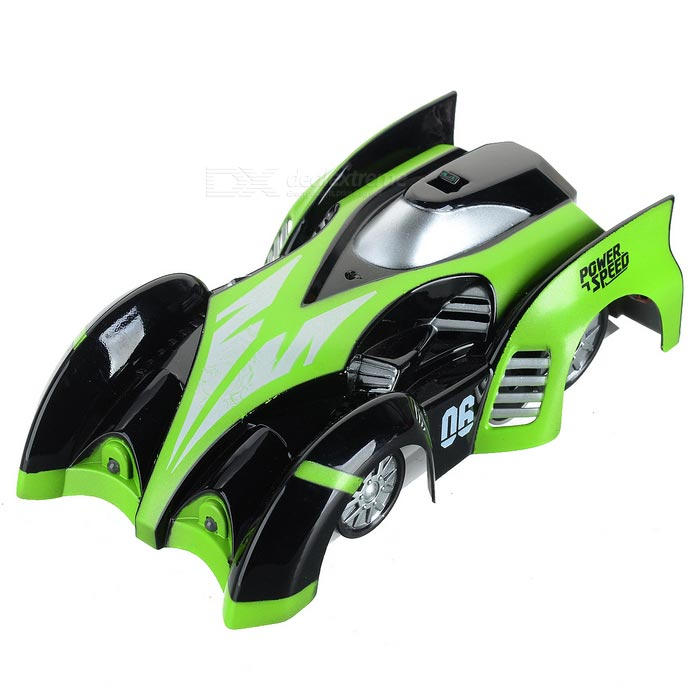 C1 USB Rechargeable 4-CH RC Wall Climbing Climber Car Toy - Green
