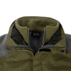 Vind Tour Män utomhus varm vindtät jacka Coat w / Removable Liner - Army Green (XL)