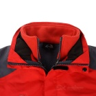 Wind Tour Men's Outdoor Water-Resistant Warm Windbreaker Jacket Coat w/ Removable Liner - Red (XL)