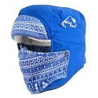 Wind Tour Outdoor Cycling Hiking Mountaineering Windproof Warm Snow Hat - Blue
