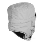 Wind Tour Outdoor Cycling Hiking Mountaineering Windproof Warm Snow Hat - Light Grey