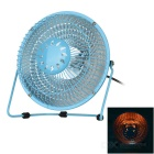 "Mini 360 Degree Rotating 6"" Energy-Efficient Fan Heater - Blue"