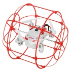 HAPPYCOW 2.4GHz 4-CH Flying & Wall Climbing Mini R/C Aircraft Toy w/ 360' Tumble - White + Red