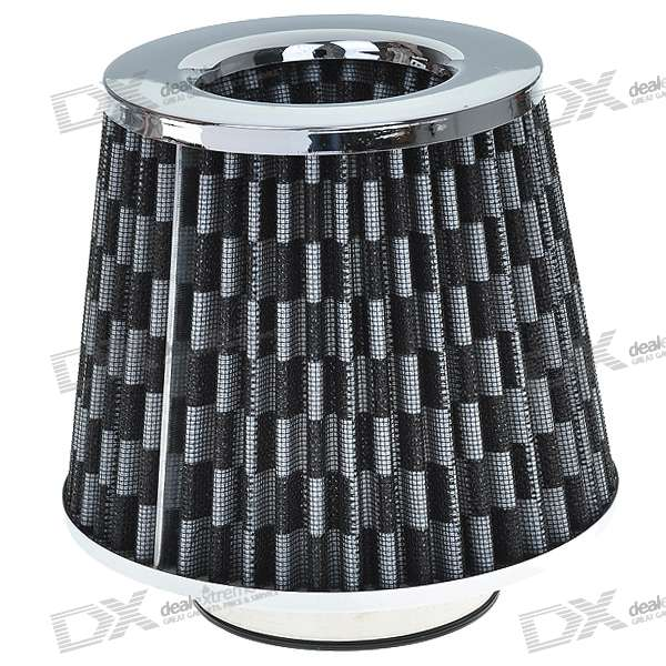 Universal Super Power Flow Air Filter for Car (Black + Grey)