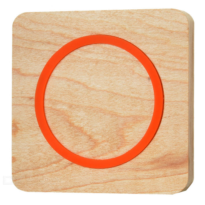 Square Qi Wireless Charger for Samsung S6 Edge + More - Orange