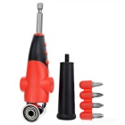 "Universal Multifunctional 105 Degree Angled 1/4"" Hex Screwdriver w/ Handle + Screwdriver Bits Set"