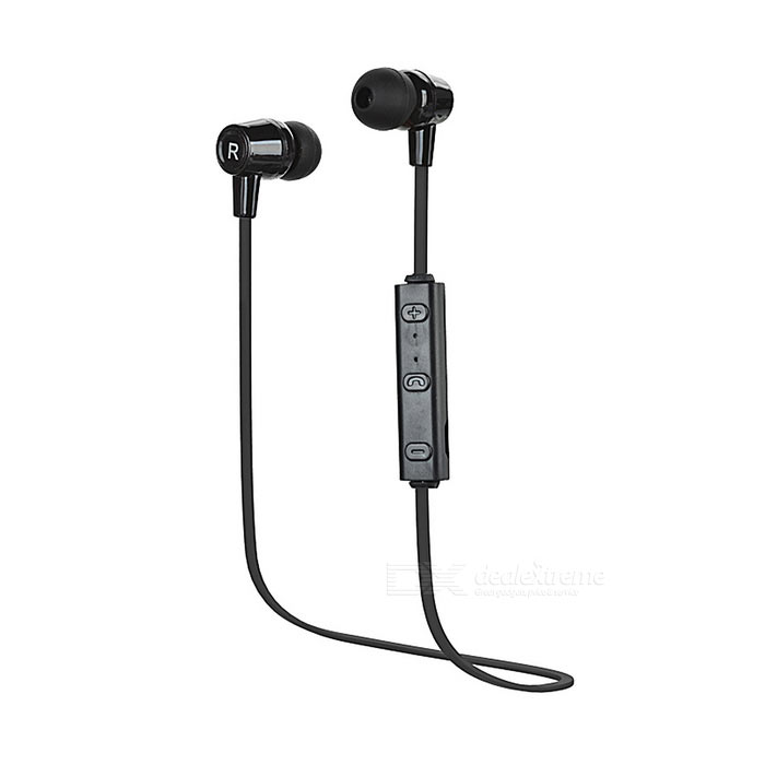 Universal Bluetooth V4.1 no ouvido Earbud Sports Headset w / Mic. - Preto