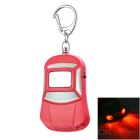 Car Shape Anti-Lost Key Finder Alarm Locator Whistle Keychain w/ Red Light LEDs - Red