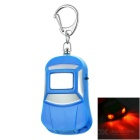 Car Shape Anti-Lost Key Finder Alarm Locator Whistle Keychain w/ Red Light LEDs - Blue