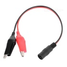 Alligator Clips to DC 5.5 x 2.1mm Male Adapter Cable for 12V Battery
