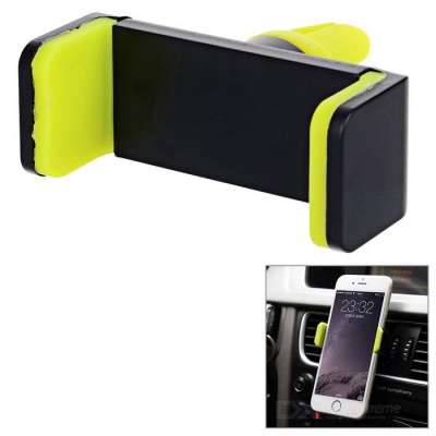 Universal Car Air Vent Mount Phone Holder - Black + Green