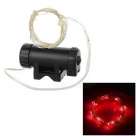 Leadbike Water-Resistant Red Light 2-Mode 20-LED Bike Wheel Spoke Light - Black
