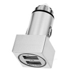 Cwxuan Metal Safety Hammer Style Dual USB Car Charger - Silver