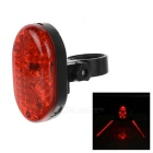 leadbike 5-Mode 8-LED Red Light Bike Laser Projection Tail Light - Red + Black (2 x AAA)