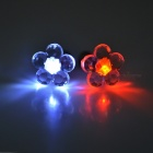 CTSmart Red + White Light LED Luminous Ear Studs for Party - Silver