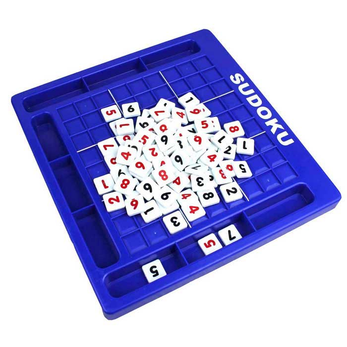 Nombre Sudoku Puzzle Game Toy Blocks - Bleu + Noir