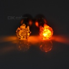 CTSmart Yellow + Orange Light LED Ear Studs for Party - Silver