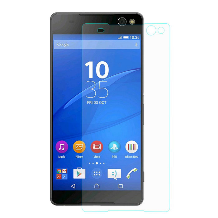 Hat-Prince Glass Screen Guard for Sony Xperia C5 Ultra - Transparent