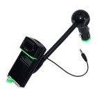 "FM13 2-in-1 1.0"" LCD Car FM Transmitter + Phone Holder - Black (DC 9~26V)"