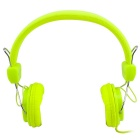 MGALL Fashion 3.5mm Wired Stereo Subwoofer Surround Sound Headphone - Fluorescent Green