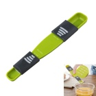 Convenient and Easy to Use Adjustable Accurate Measurement Spoon - Green + Multicolor