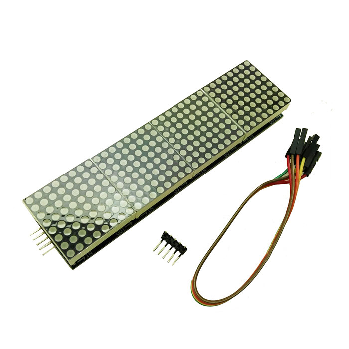 produino MAX7219 4 i en dot matrix display styrmodul för Arduino