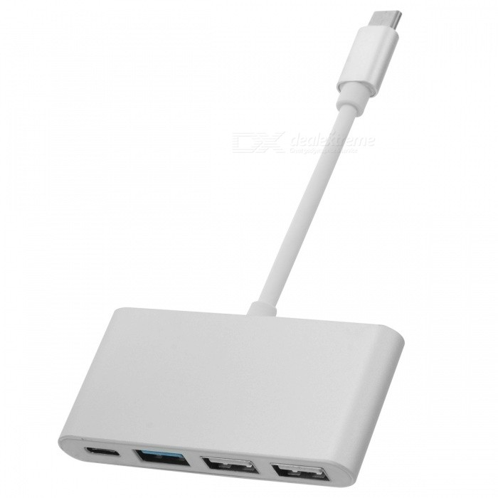 CY USB 3.1 USB-C 3-Port Hub w/ PD Power for MACBOOK + More - Silver
