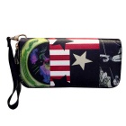 Cute Cartoon Pattern PU Long Wallet Purse for Women - Black + Red