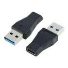 CY USB 3.1 Type C Female to USB 3.0 A Male Data Adapter - Black
